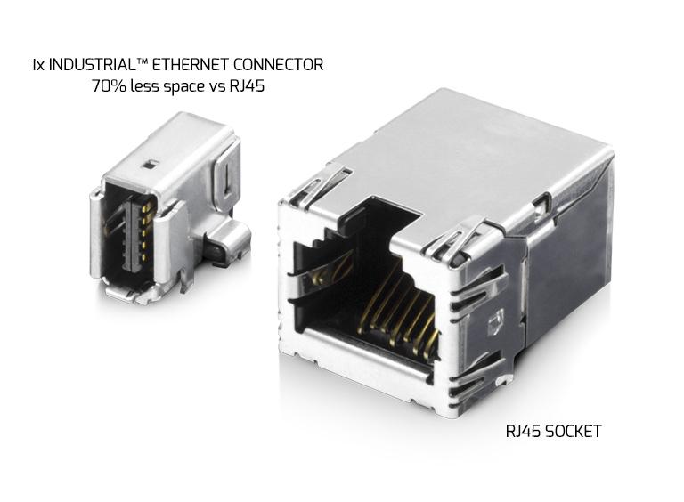 ix Industrial Ethernet Connector vs RJ45 Socket