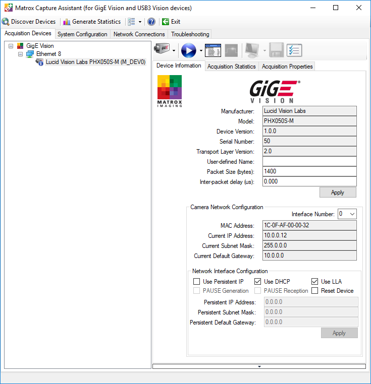 Using Matrox Image Library (MIL) for Windows   LUCID Vision Labs