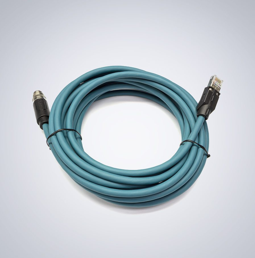 M12 to RJ45 5m cable, IP67