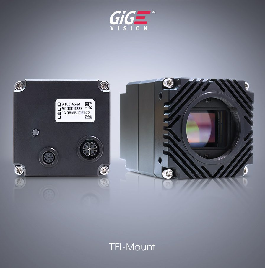 Atlas Machine Vision Industrial Camera - Side and Back