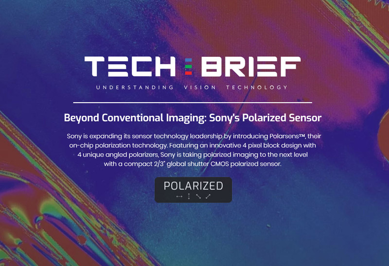 Tech Brief Sony Polarization Sensor-Polarsens