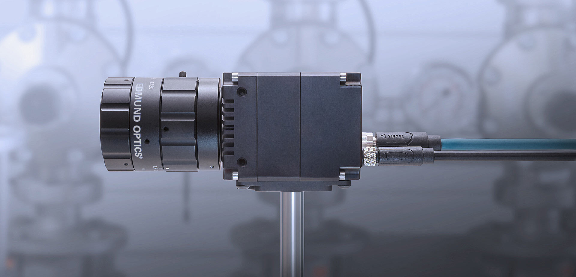 Atlas Industrial Machine Vision Camera with Edmund Optics Lens